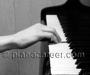 Piano sound. Correct hand posture