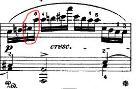 Chopin - bar 47 from Etude op. 10 No. 8